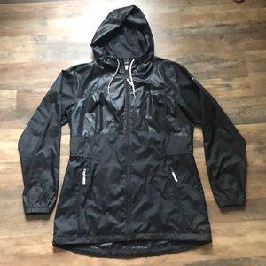 Black Columbia windbreaker jacket
